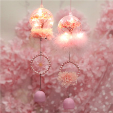 LED Night Light Sakura Flowers Ball Wind Chime Decoration For Girl Kid Birthday Christmas Valentine'S Day Wedding Party Gift D30