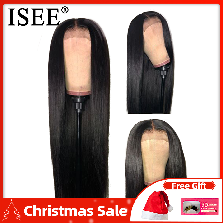 Straight Lace Front Wigs For Women 24/26 Inch ISEE HAIR Wigs 150%Density 13X4/13X6 Malaysian Straight Lace Front Human Hair Wigs