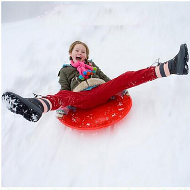 Children Winter Portable Snowboard Skis Sand Grass Slider Disc Pad Toy Sled With Handle Brake Thick