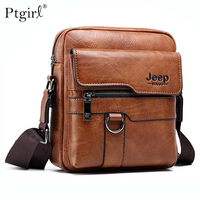 Jeep Buluo Luxury Brand Men Messenger Bag Crossbody Business Casual Handbag ptgirl Male Spliter Leather Shoulder Large Capacity