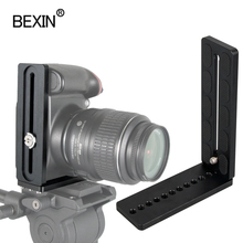 Bexin 유니버설 길이 L 모양 수직 촬영 퀵 릴리스 L 플레이트 브래킷 그립 1/4 나사 니콘 코난 소니 DSLR 카메라