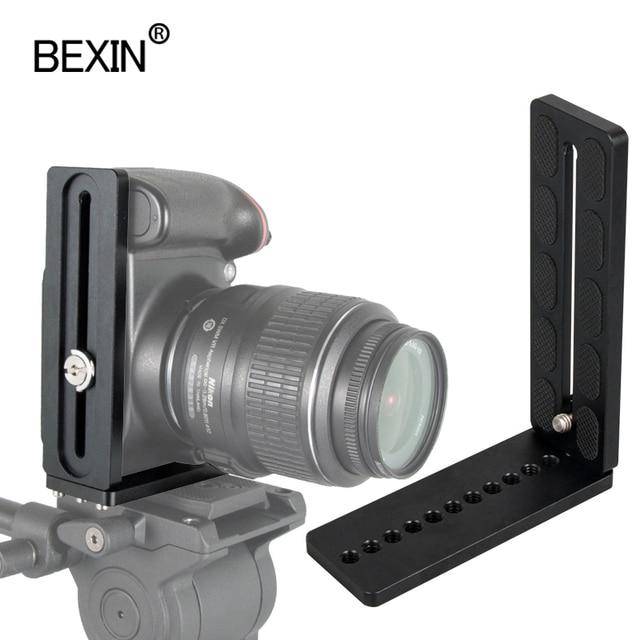Bexin universal Lengthen L Shape Vertical Shooting Quick Release L Plate Bracket Grip 1/4 screw For Nikon conan sony DSLR Camera