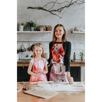 A set of aprons for adults and children