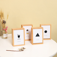 1pc Simple Solid Wood Photo Frame Music Box Piggy Bank Desktop Display Children's Picture Frame Painting Frame Multi Decor Gift a4 size wood photo frame solid wood photo frame stand table display photo quadro decoration tv wall frame best gift 2019