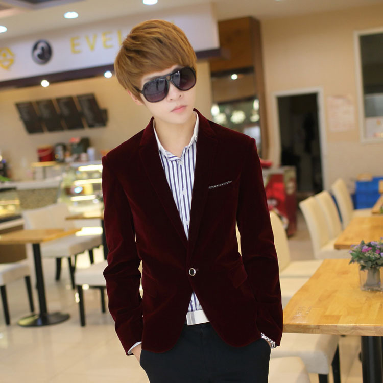 2018 Spring And Autumn New Style Leisure Suits For Men Velveteen Leisure Suit Men's Corduroy Suit