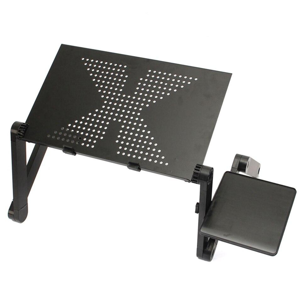 Portable pliable 360 degrés réglable table pliante pour ordinateur de bureau d'ordinateur Portable mesa para ordinateur Portable support plateau pour canapé-lit noir