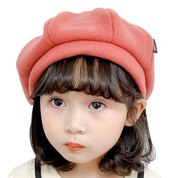 Dzieci Beret dziewczyny czapka dla chłopców czapka z daszkiem w jednolitym kolorze gładka kolor dla maluszka dla dzieci urocza czapka przyczynowa 3-8 lat tanie i dobre opinie Hilenhug CN (pochodzenie) COTTON Dopasowana Unisex Stałe baby 19-24 miesięcy MZ9657 Solid Kids Beret 46-52cm 3 to 8 Years Boys Girls