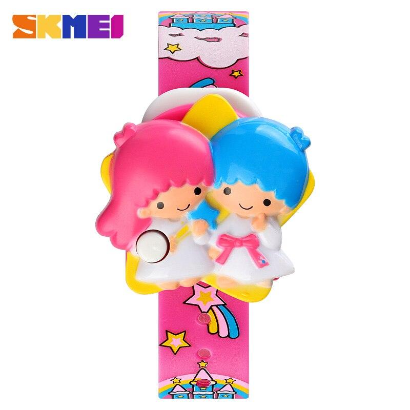 SKMEI Creative Cute 3D Cartoon Anime Princess Kids Sports Watches Casual Girls Boys Date Clock Children Digital Наручные часы 1749