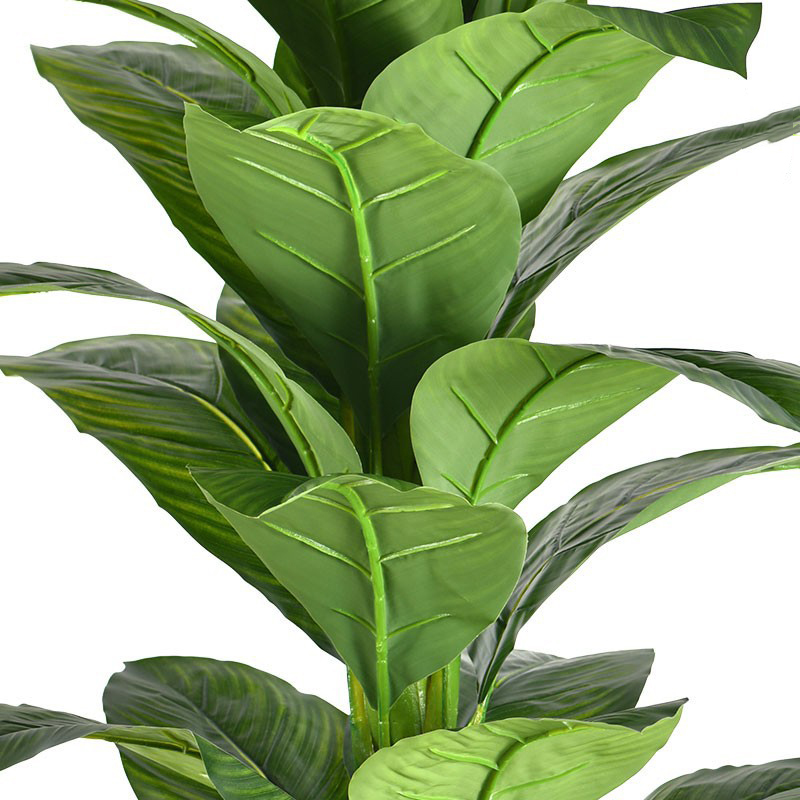 155cm Large Artificial Tree Tropical Plants Plastic Leaves Green