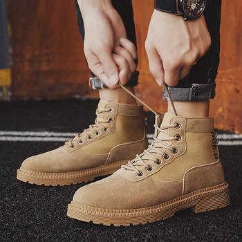 Men Casual Shoes Ankle Boots Black Chelsea Boots Zapatos De Hombre 8