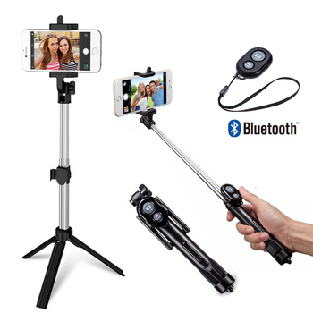 Flexible Monopod Tripod for iPhone IOS Samsung Xiaomi Huawei Android OS Phone Tripod Stand For Gopro Camera Holder