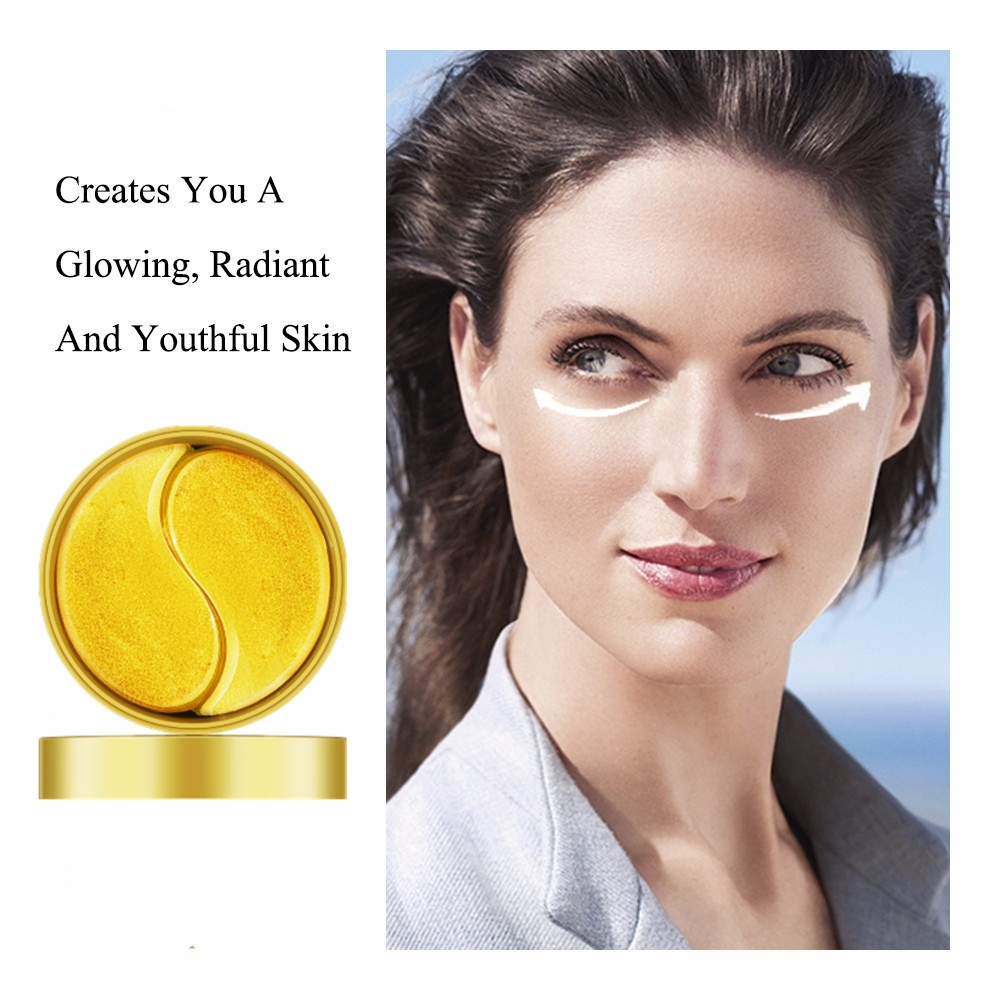 Gold Snail Collagen Eye Mask Eye Pads Skin Care Hydrogel Patches For Eyes Mask Anti Dark Circle Anti-Puffiness Face Mask 60pCS
