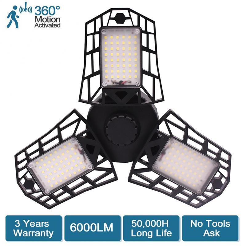 LED Garage Light E26//E27 40W//60W Daylight For Workshop Warehouse Ceiling Lamp UK