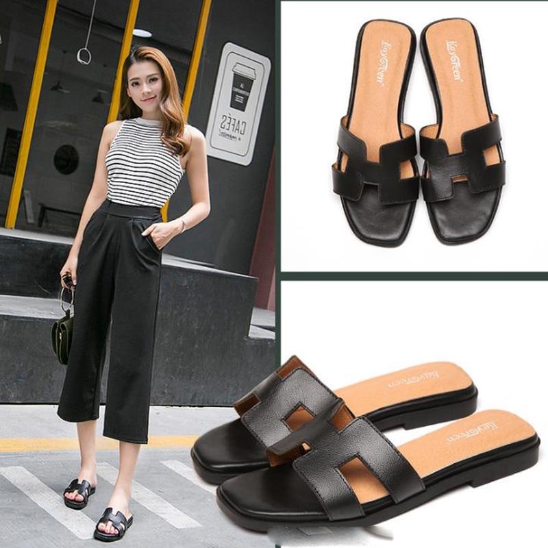 Summer sandals 2020 women's fashion wear sandals new travel all-round flat bottom beach sandals word slippers