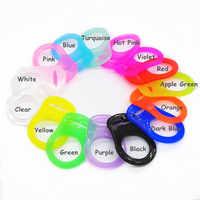 Chenkai 100pcs Limpar mam anéis silicone DIY Brinquedo do bebê chupeta manequim cadeia titular anel adaptador para NUK alimentos grau BPA Livre