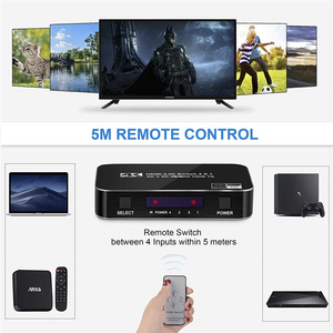 Image 2 - 2020 4 Port 18Gbps HDR 4K HDMI 2.0 Switch 4x1 Support HDCP 2.2 HDMI Switch HUB Box With IR Mini HDMI Switch Remote For PS4 360