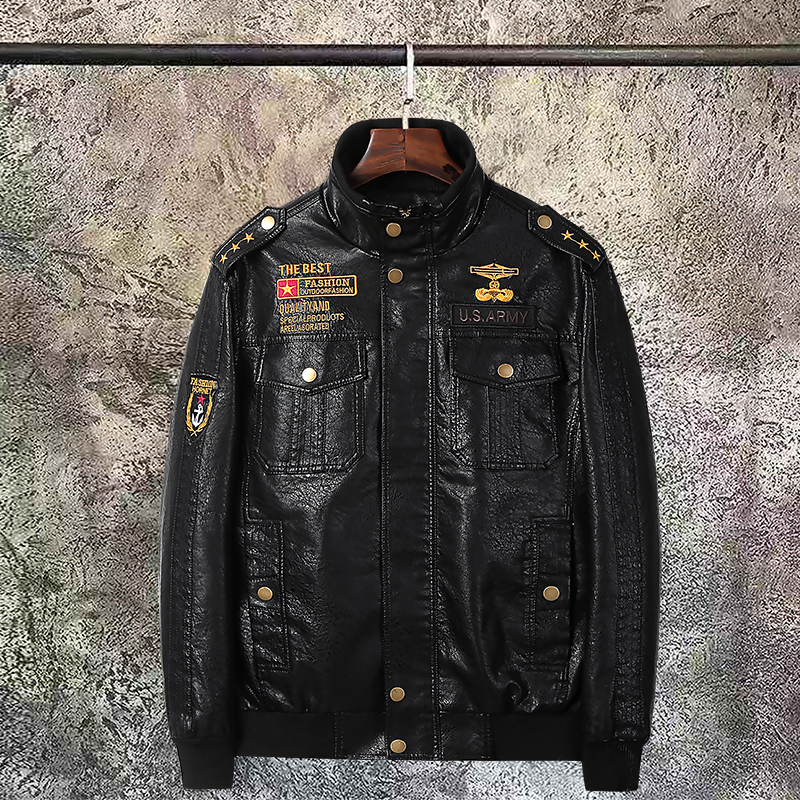 Motorcycle Leather Jacket Men PU Faux Leather Suede Jackets Jaqueta De Couro Masculina Mens Leather Coats Plus Size 5XL 6XL