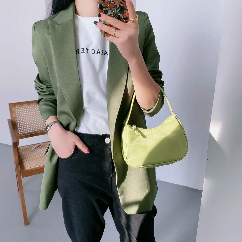 Cthink Spring 2020 New One Button Suit Blazer Women Fashion Solid Green Suits For Women Stylish Regular Casual Lady Violet Coat
