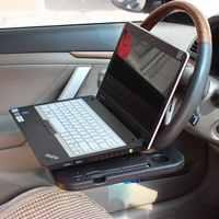 Soporte para portátil de coche, bandeja de dirección de escritorio para Notebook, soporte para bebidas automáticas, bandeja de mesa de comida, soporte para bebidas, mesa de tarjeta de coche, ordenador