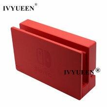 IVYUEEN-carcasa de repuesto roja para consola Nintendo Switch, estación de acoplamiento, cubierta de tapa de plástico, accesorios de piel