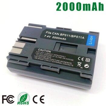 BP-511A BP-511 BP511A BP511 סוללה עבור Canon BP 511 BP 511A EOS 300D 50D 40D 30D 20D 5D MV300i 10D l10 G6 G5 G3 G2 G1 סוללה