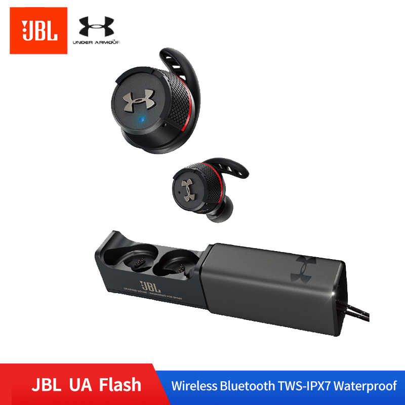 JBL UA FLASH TWS Wireless In Ear Bluetooth V4.2 Sport Earphone Ture Wiessless IPX7 Waterproof Earphone with Charge Box and Mic