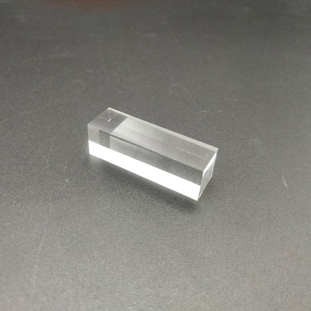 Tige de guidage lumineuse carrée, Cube optique K9 12.1x12.1x35mm, utilisé avec les expériences de physique enseignement, vente en gros