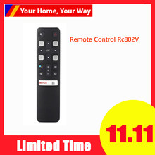 Controle remoto Rc802V Fmr1 Jur6 65P8S 49S6800Fs 49S6510Fs para Tcl Smart Tv 49S6800FS 55P8S 49S6800FS 49S6510FS Fernbedie