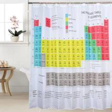 Tabela periódica de elementos cortina de chuveiro, forma química, impressão digital, à prova d'água, cortina de chuveiro, produtos de banheiro, venda imperdível