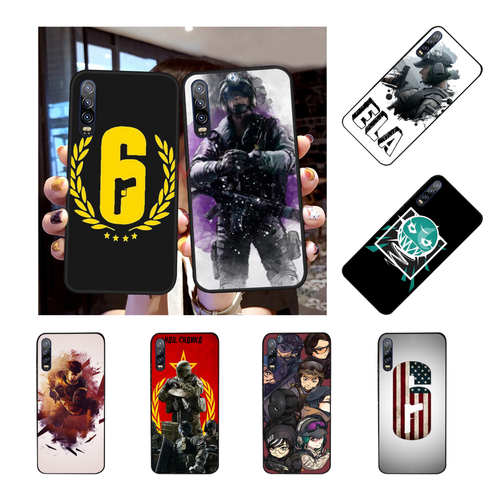 NBDRUICAI Rainbow Six Siege Art Silicone DIY Painted Bling Phone Case for Huawei Honor 20 10 9 8 8x 8c 9x 7c 7a  Lite view
