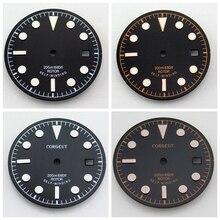 Corgeut 1pcs 30.5mm Black Dial fitETA 2836/2824, Miyota 8205/8215/821A/82series,Mingzhu DG 2813/3804  movement