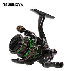 TSURINOYA Spinning Reel 162g Ultralight Trout 800 1000 1500 1500S  Bait Finesse Ajing Carbon Fishing Lure Reel Shallow Spool