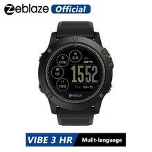 Zeblaze VIBE 3 saat akıllı saat 1.22 inç IPS yuvarlak ekran desteği nabız monitörü pedometre IOS için akıllı saat Android