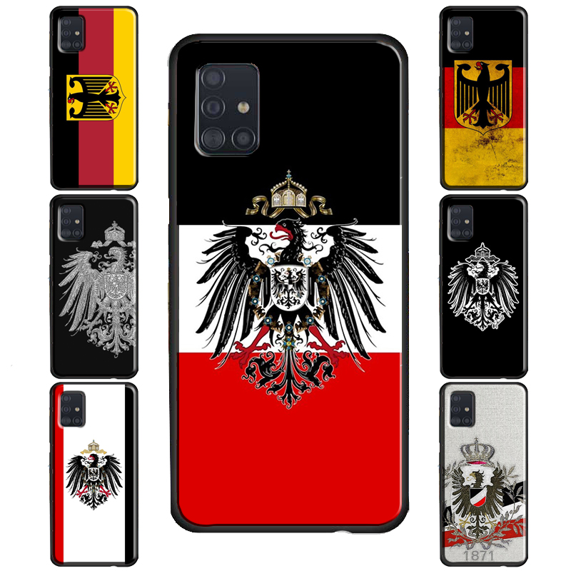 German Empire Flag Case For Samsung Galaxy Note 10 Plus Note 20 Ultra Note 9 S8 S9 S10 Plus S20 FE S21 Ultra