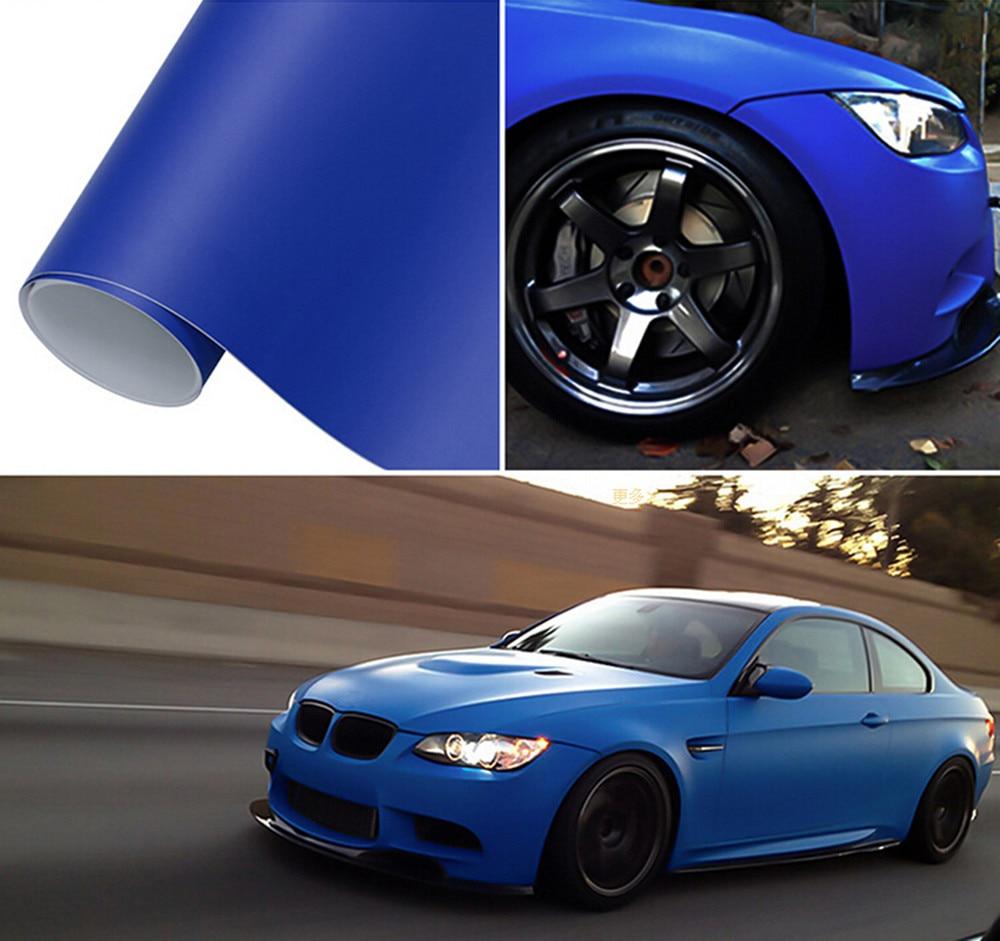 SUNICE Matte Vinyl Car Wrap Film Dark Blue Matte Wrapping Film Car Body Decoration PVC Sheet Air Bubble Free Car Accessories