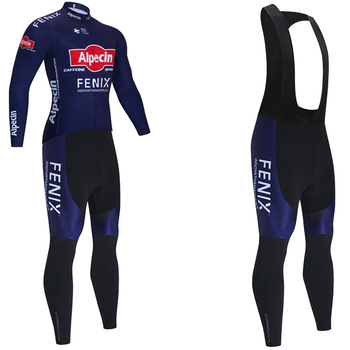 Alpecin-Ropa deportiva para Ciclismo, conjunto de pantalones térmicos de lana para Ciclismo,...