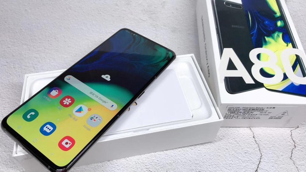 "Samsung Galaxy A80 A8050 Smartphone 6.7"" infinity display Snapdragon 730G Octa Core 8GB 128GB rotating camera 48MP Mobile Phone - 4"