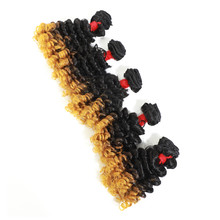 Afro Jerry Synthetic Hair Extensions For Women Heat Resistant Kinky Curly Synthetic Hair Weaves 5 Bundles 240g All In One Pack(China)