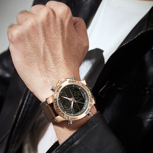 Image 5 - NAVIFORCE Uhr Männer Top Luxus Marke Leder Wasserdichte Sport herren Uhren Quarz Analog Digital Uhr Männlich Relogio Masculino