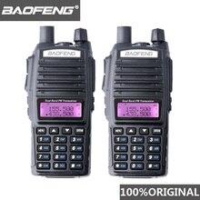 2 قطعة BaoFeng UV 82 لاسلكي تخاطب 10 كجم ثنائي النطاق 136 174/400 520 ميجا هرتز FM هام اتجاهين راديو UV82 CB هام راديو Hf جهاز الإرسال والاستقبال UV 82