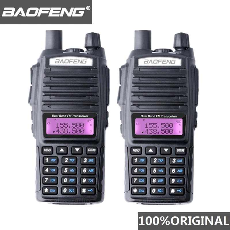 2 قطعة BaoFeng UV-82 لاسلكي تخاطب 10 كجم ثنائي النطاق 136-174/400-520 ميجا هرتز FM هام اتجاهين راديو UV82 CB هام راديو Hf جهاز الإرسال والاستقبال UV 82