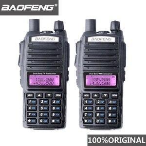 Image 1 - 2PCS BaoFeng UV 82 ווקי טוקי 10 KM Dual Band 136 174/400 520 MHz FM חם שתי דרך רדיו UV82 חובבי CB רדיו משדר Hf UV 82