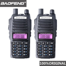 BaoFeng Walkie Talkie UV 82, banda Dual, 10 KM, 136 174/400 520 MHz, FM, Ham, Radio bidireccional, UV82, CB, Ham, transceptor de Radio Hf, UV 82, 2 uds.