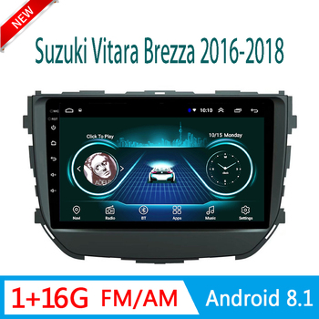 auto DVD player For Suzuki Vitara 2016 2017 2018 multimedia system audio video GPS navigation no 1 din Android 8.1 mirror link image