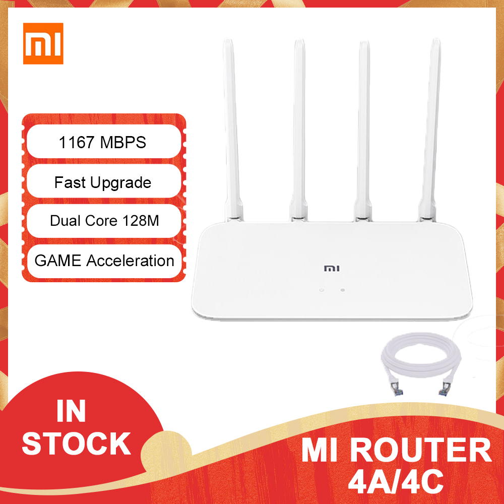 Xiaomi Router 4A 4C MI Gigabit edition 2.4GHz 5GHz WiFi 1167Mbps 128MB DDR3 High Gain 4 Antenna APP Control IPv6 WiFi MI Router 1
