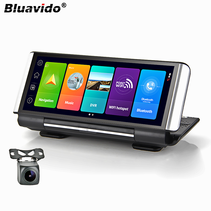 Bluavido 7 Inch 4G Android 8.1 Car DVR GPS 2G RAM FHD 1080P video recorder Dual Lens Dashboard Camera WiFi App remote Monitoring(China)