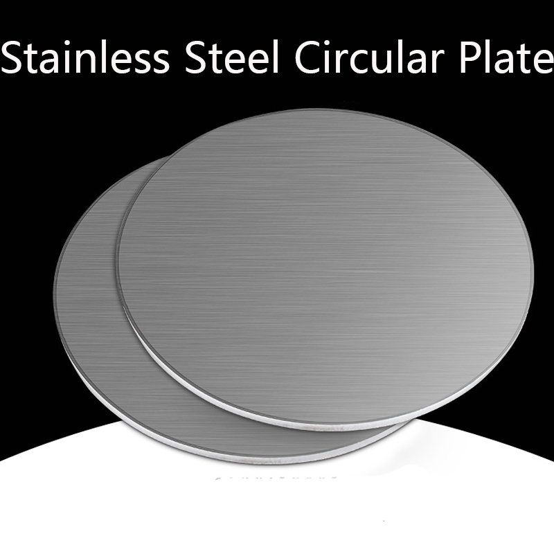 Stainless Steel Circular Plate 304 Disc Plate Circular Flat-plate Round Disk Sheet Thickness 1.5 2 2.5 3mm