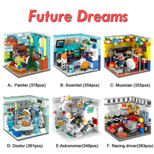 XINGBAO 01402 6 IN 1 The Future Dreams House Sets Building Blocks Bricks City House Friends Model Building Kits Educational Toys lepin 17006 928pcs kirk s house rare limited edition model building kits set blocks bricks lepins toys clone 4000007