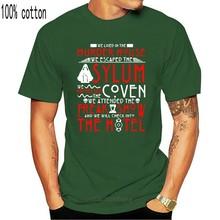 Camiseta de American Horror Story We living In Murder House para hombre, ropa de Fitness, tendencia personalizada