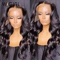 Wigirl 13x4 Menschliches Haar Perücken Brasilianische Körper Welle Spitze Verschluss Perücken Bob Perücke Pre Gezupft mit Baby Haar perücken für Frauen Menschliches Haar